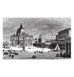 St peters basilica a late renaissance church vector