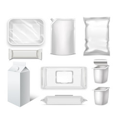 template blank realistic packge set vector image vector image
