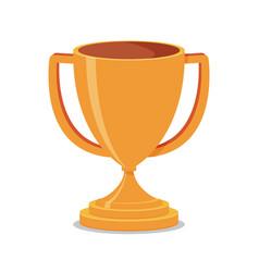 trophy cup flat vector image vector image