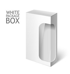 White Package Box with Window Mockup Template vector image