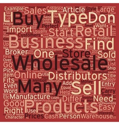 How to find the perfect wholesale business for you vector