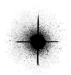 Graffiti sprayed star shape in black on white vector