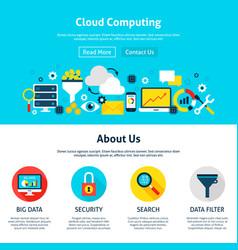Cloud computing web design vector