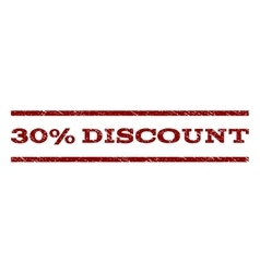 30 Percent Discount Watermark Stamp vector image