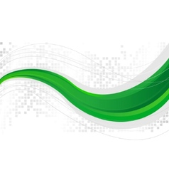green wave - template vector image