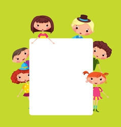 Cartoon children frame vector