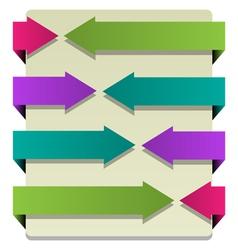 Paper arrows vector