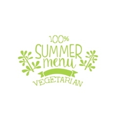 Vegetarian summer menu calligraphic cafe board vector