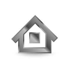 Metal home icon vector