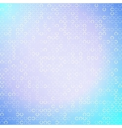 Abstract white circles on light blue background vector image