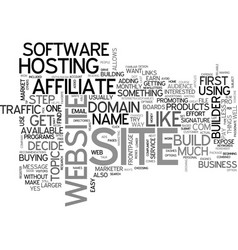 Affiliate tip build a website text word cloud vector