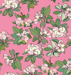 apple flowers pattern vector image