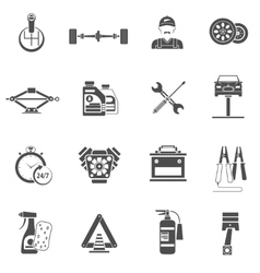 Car service icons black vector