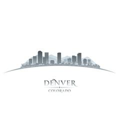 Denver Colorado city skyline silhouette vector image vector image