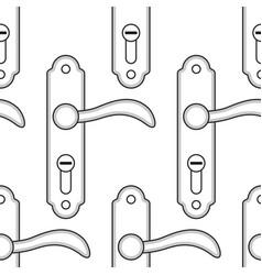 door handle pattern vector image
