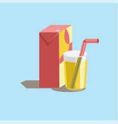 Drink icon juice and glass vector
