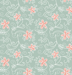 floral ornament of summer background vector image vector image