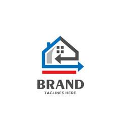 home loan logo real estate logo vector image