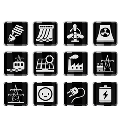 Icon set energy and industry vector
