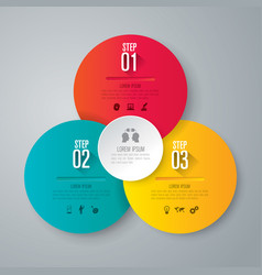 infographics design with 3 step vector image