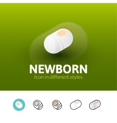 Newborn icon in different style vector