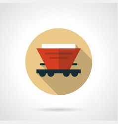 red hopper car beige round icon vector image