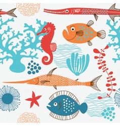 sea fauna vector image