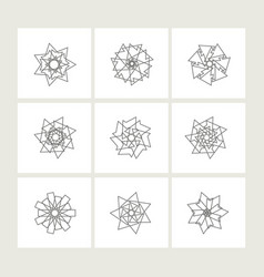 Set of minimal geometric monochrome symbol set vector