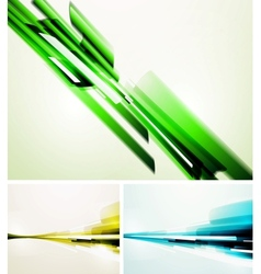 Set of straight lines abstract backgrounds vector image vector image