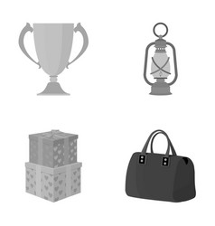 Sport history leisure and other monochrome icon vector