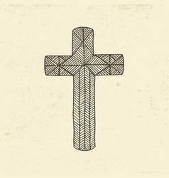 the cross of jesus christ vector image vector image