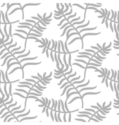 Tropical jungle palm leaves pastel gray color vector image vector image