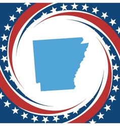 Vintage label Arkansas vector image