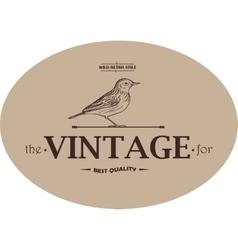 Vintage Template Emblem vector image vector image