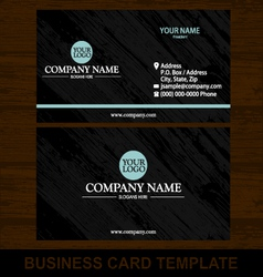wood business card template vector image vector image