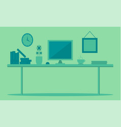 workplace for graphic designer and photographer vector image