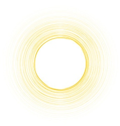 Yellow round background vector image