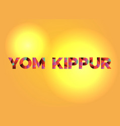Yom kippur theme word art vector