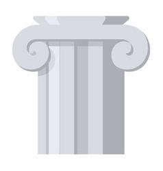 Ancient column icon vector