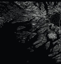 Abstract grayscale earth relief map vector