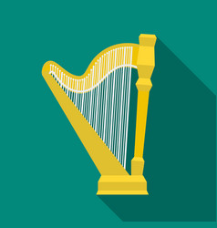 Harp icon in flat style isolated on white vector