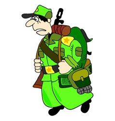 Cartoon soldier vector