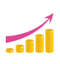 Income growth cartoon style isolated vector