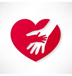The human heart rescue people vector