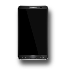 A mobile phone black eps10 vector