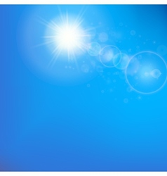 Sun with lens flare template vector image