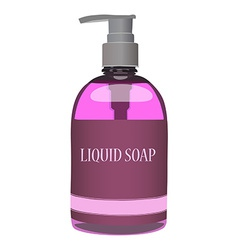 Pink soap bottle vector