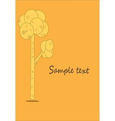 Tree pattern with the yellow card vector