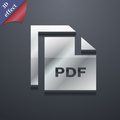 File pdf icon symbol 3d style trendy modern design vector