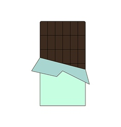 Chocolate bar icon vector